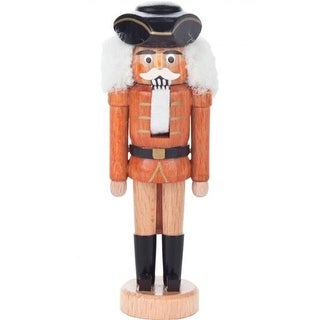 Dregeno Mini Nutcracker - Colonial Soldier with a Natural Wood