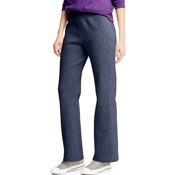 Hanes ComfortSoft ; EcoSmart® Women's Open Leg Fleece Sweatpants - Size - L - Color - Navy Heather