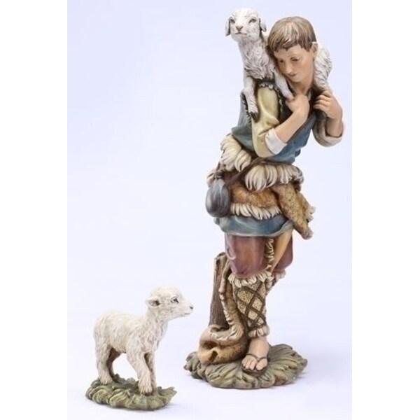 2-Piece Joseph's Studio Shepherd Gabriel Christmas Nativity Statue Set - BLue