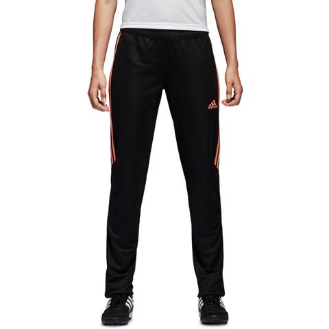 Adidas Womens Athletic Pants Striped Soccer - L