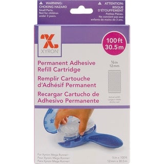 """Xyron Mega Runner Permanent Adhesive Refill-.5""""X100', For Use In 0701 Or 100049"""