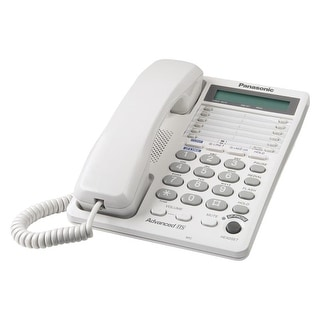 Panasonic Kx Ts208w 2 Line Feature Phone With Lcd White