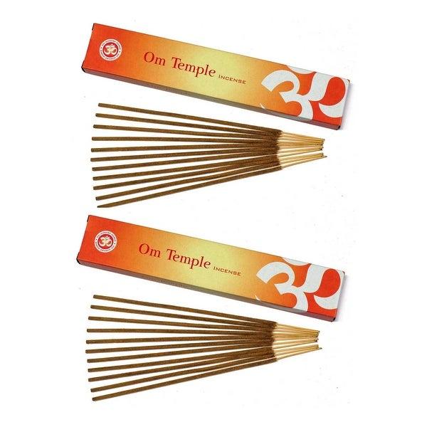 Om Incense Works Natural Fragrance Incense Sticks 2 Pack (15 grams per Box) - 2 Pack of 15 Grams