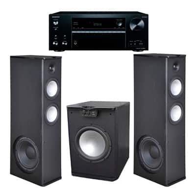 Shop Premier Acoustic Pa 8 12 Tower Speakers With Pa 150 Subwoofer And Onkyo Tx Nr676 Receiver Overstock 16685713