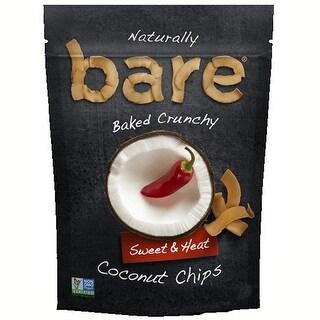 Bare Fruit All Natural Crunchy Coconut Chips Sweet 'N Heat - Case of 12 - 40 Gram