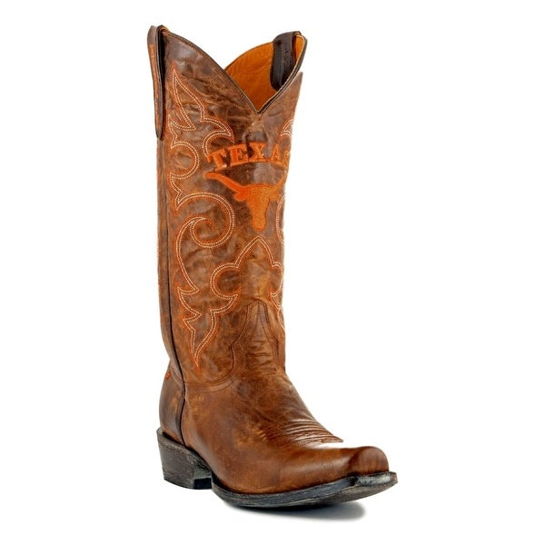 Gameday Boots Mens College Team Texas Longhorns Brass