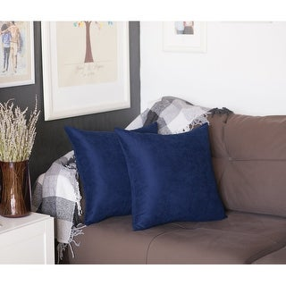inch Square Solid Color Throw Pillow