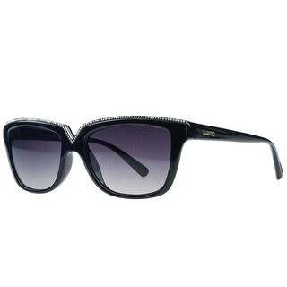 Valentino V646/SR 001 Black Rectangular Sunglasses