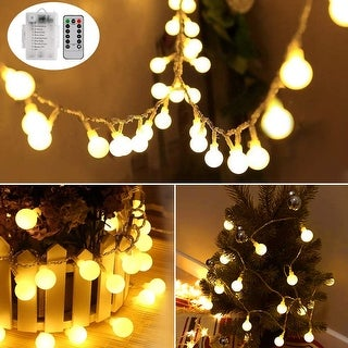 33ft 100 LEDs Battery Operated String Lights with Remote - Medium