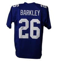 Saquon Barkley Autographed New York Giants XL Blue Jersey JSA