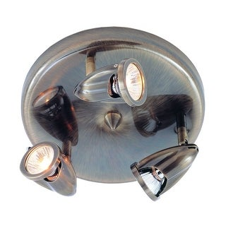 Trans Globe Lighting 462 Three Light Round Track Light from the Modern Track Collection