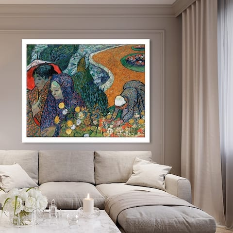 Oliver Gal 'Van Gogh - Ladies of Arle' Classic and Figurative Wall Art Canvas Print - Green, Orange