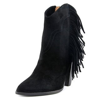 Frye Remy Fringe Short Women Pointed Toe Suede Ankle Boot