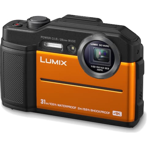 Panasonic LUMIX TS7 Waterproof Tough 20.4 MP Digital Camera (Orange)
