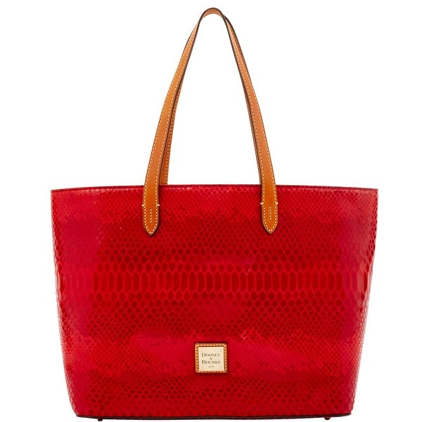 Dooney & Bourke Snake Small Shopper (Introduced by Dooney & Bourke at $268 in Jul 2016) - Red