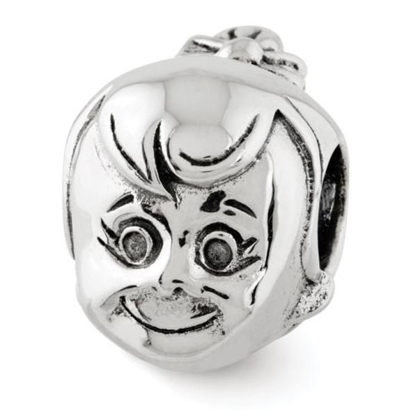 Sterling Silver Reflections Little Girl's Head Bead (4mm Diameter Hole)
