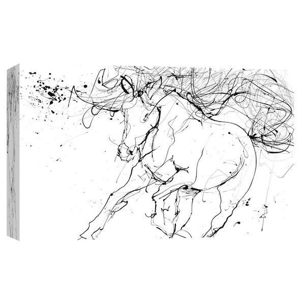 "PTM Images 9-101687 PTM Canvas Collection 8"" x 10"" - ""Horse Contour 2"" Giclee Horses Art Print on Canvas"