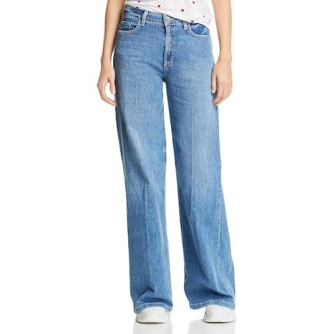Paige Womens Sutton Wide Leg Jeans Denim Flare - Amore