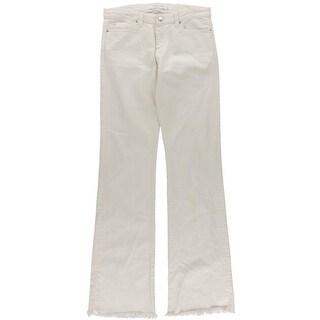 IRO Womens Freddy Wide Leg Jeans Cutoff Mid-Rise