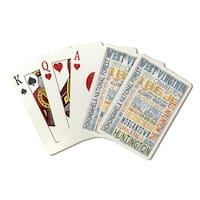 West Virginia - Rustic Typography - LP Artwork (Poker Playing Cards Deck)