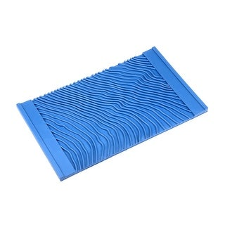 Wood Grain Tool Rubber Square Graining Pattern Stamp Wall Paint Decoration Blue