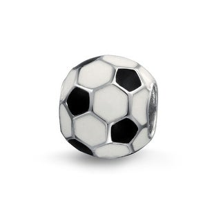 Bling Jewelry Soccer Ball Charm 925 Sterling Silver European Football Sports Bead