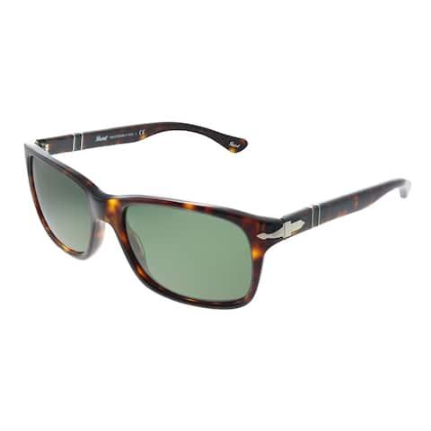 Persol PO 3048S 24/31 55mm Unisex Havana Frame Green Lens Sunglasses
