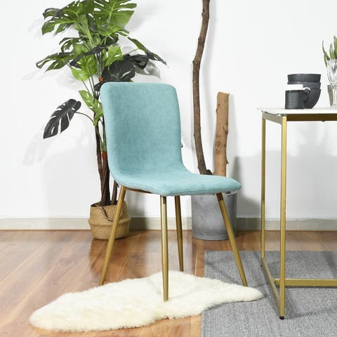 Carson Carrington Mid-Century Modern Upholstered Dining Chairs (Set of 4)