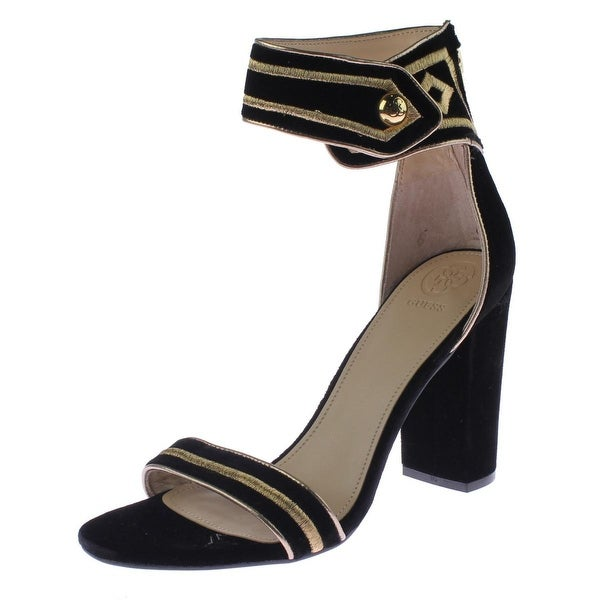 Shop Guess Womens Cersian Evening Sandals Velvet Block Heel - Free Shipping  Today - Overstock - 19453096