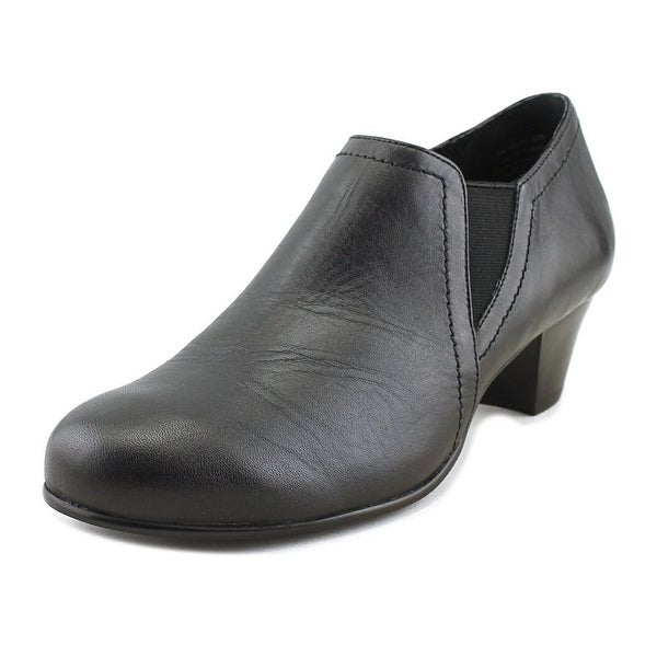 David Tate Maple Bootie Women W Round Toe Leather Black Loafer