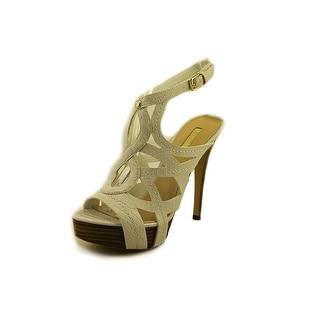 Guess Kaesy 2 Women Peep-Toe Leather White Heels
