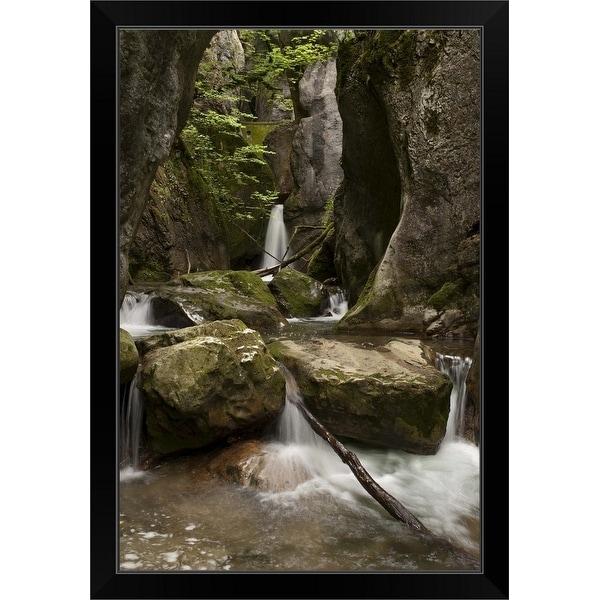 """Jardin Zen"" Black Framed Print"