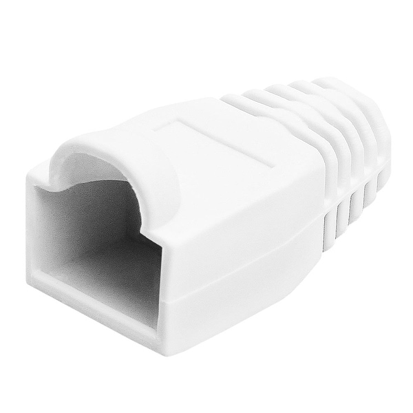 RJ45 Color Coded Strain Relief Boots 50pcs - White