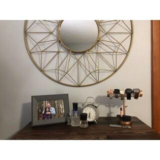 Abbyson Marie Round Gold Wall Mirror - A/N