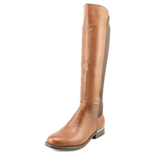 Modern Rush Mercy Round Toe Leather Knee High Boot