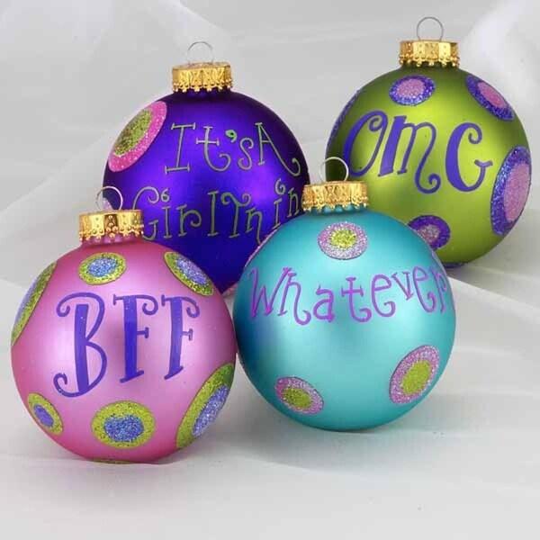 "4ct Tween Christmas Polka Dot Trendy Lingo Glass Ball Ornaments 3.25"" (80mm) - BLue"
