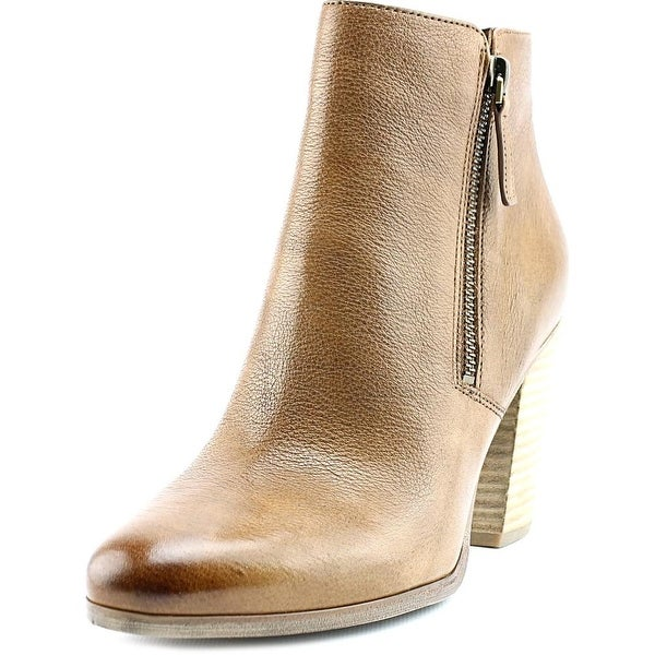 Michael Michael Kors Denver Bootie Women Pointed Toe Leather Tan Ankle Boot