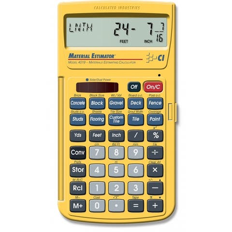 Calculated Industries 4019 Material Estimator Calculator