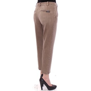 Dolce & Gabbana Dolce & Gabbana Beige Cotton Cropped Chinos Jeans Pants - it40-s