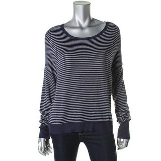 Eileen Fisher Womens Petites Long Sleeves Striped Sweater - pm