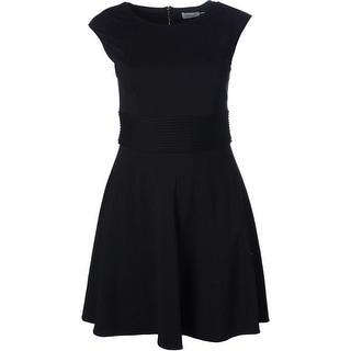 Eliza J Womens Ponte Pintuck Wear to Work Dress