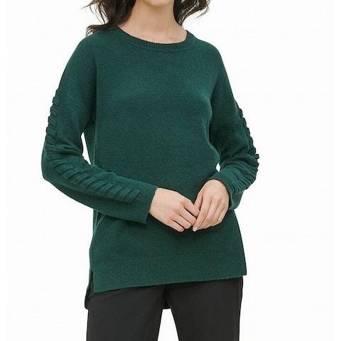 Calvin Klein Women's Sweater Hunter Green Size XL Rib Knit Pullover