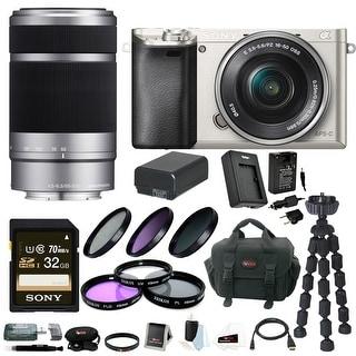 Sony Alpha a6000 24.3 MP Interchangeable Lens Camera Bundle /w 16-50mm Power Zoom Lens