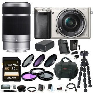 Sony Alpha a6000 24.3 MP Interchangeable Lens Camera Bundle /w 16-50mm Power Zoom Lens