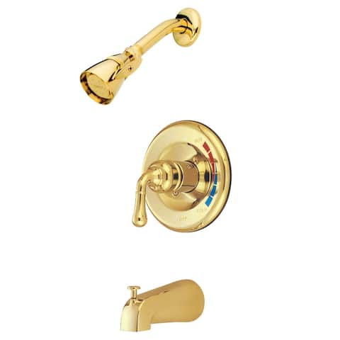 Elements Of Design EB632 Tub and Shower Faucet with Single Handle - Polished Brass