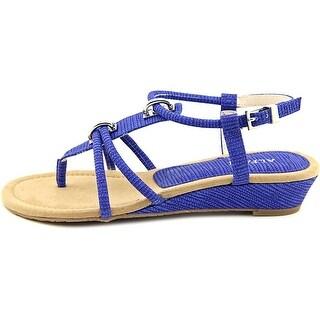 Alfani Womens Carah Open Toe Casual T-Strap Sandals