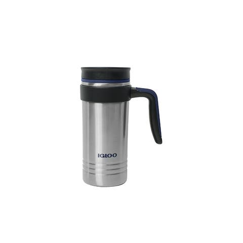 Igloo 70176 Isabel Stainless Steel Insulated Travel Mug, Natural, 16 Oz