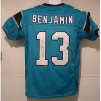 Kelvin Benjamin Autographed Carolina Panthers blue size XL jersey JSA