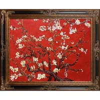 Branches of an Almond Tree in Blossom, Ruby Red by Vincent Van Gogh Framed Hand Painted Oil on Canvas