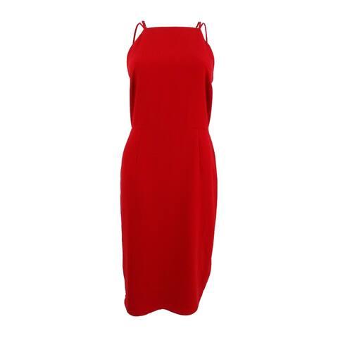 Adelyn Rae Women's Spaghetti Strap Midi Dress (S, Red) - Red - S
